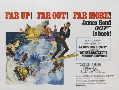 On Her Majesty's Secret Service (1969) poster, British