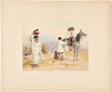 View 2. Thumbnail of Lot 229. Nebel, Carl   Four highly-accomplished watercolors by one of the most important illustrators working in 19th century .