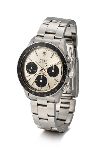 ROLEX | COSMOGRAPH DAYTONA 'BIG RED', REFERENCE 6263, A STAINLESS STEEL CHRONOGRAPH WRISTWATCH WITH BRACELET, CIRCA 1986