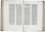 Gregorius I, Moralia in Job, Rome, 1475, 2 volumes, later mottled calf gilt