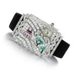 Lady's gem set and diamond cocktail watch, 1920s