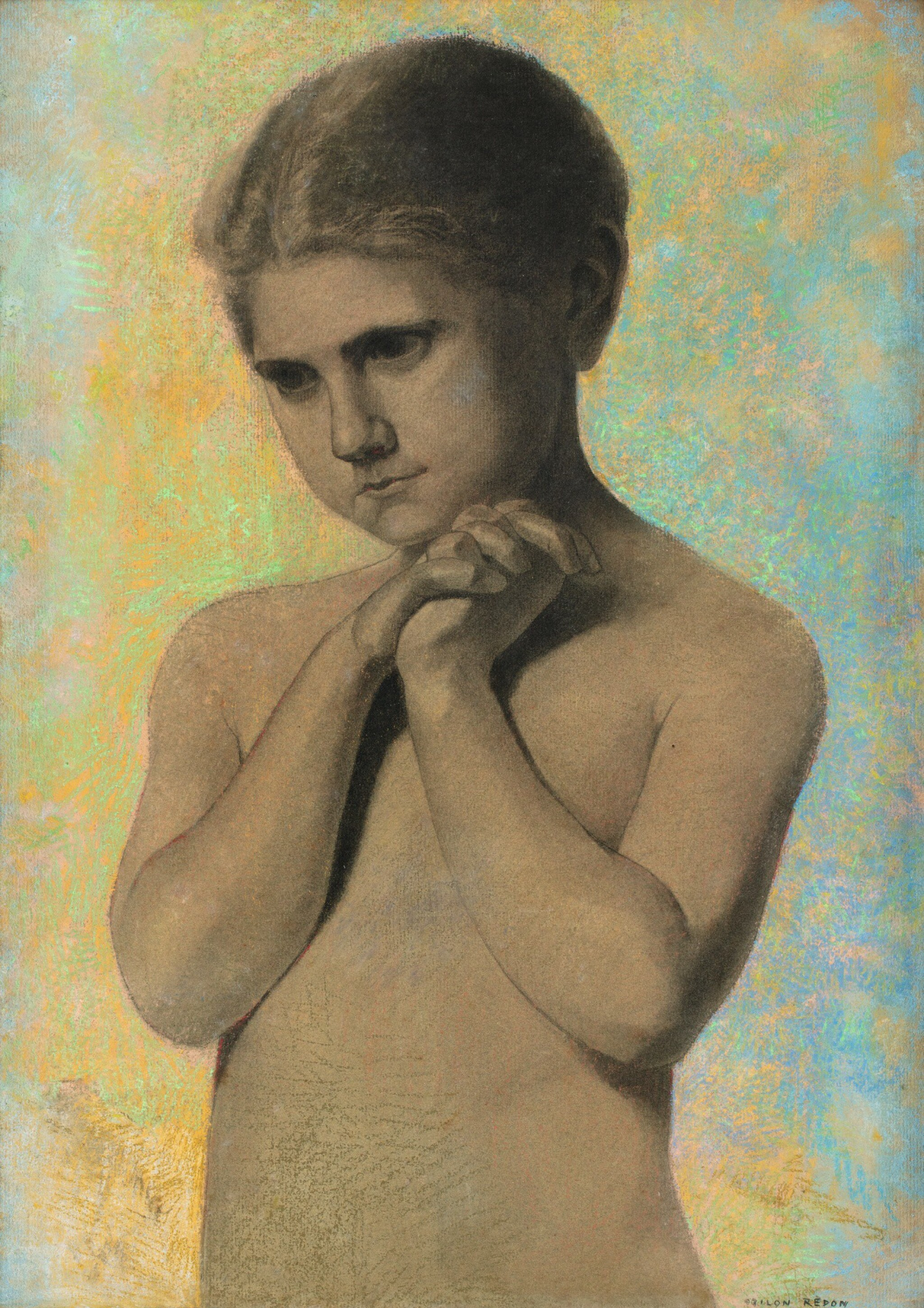 View full screen - View 1 of Lot 157. ODILON REDON | FILLETTE NUE.