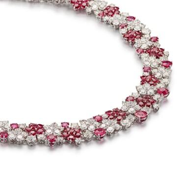 View 3. Thumbnail of Lot 1019. Ruby and Diamond Necklace | 格拉夫| 紅寶石 配 鑽石 項鏈 (紅寶石及鑽石共重約46.50及50.30克拉).