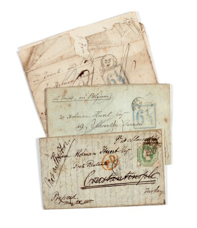 LEAR | Fine sequence of autograph letters signed to William Holman Hunt, 1853-1885