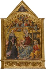 MASTER OF THE ANCONETTE FERRARESI  |  THE NATIVITY, WITH SAINT ANTHONY ABBOT AND A SUPPLICANT