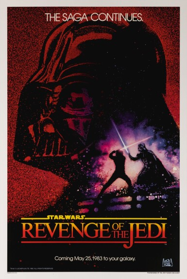 REVENGE OF THE JEDI, SECOND ADVANCE (DATED) POSTER, DREW STRUZAN, US, 1982