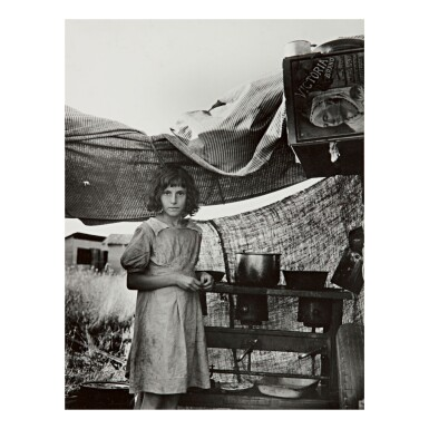 DOROTHEA LANGE | MIGRATORY CHILD AT END OF DAY IN BEAN PICKERS' CAMP NEAR WEST STAYTON, OREGON