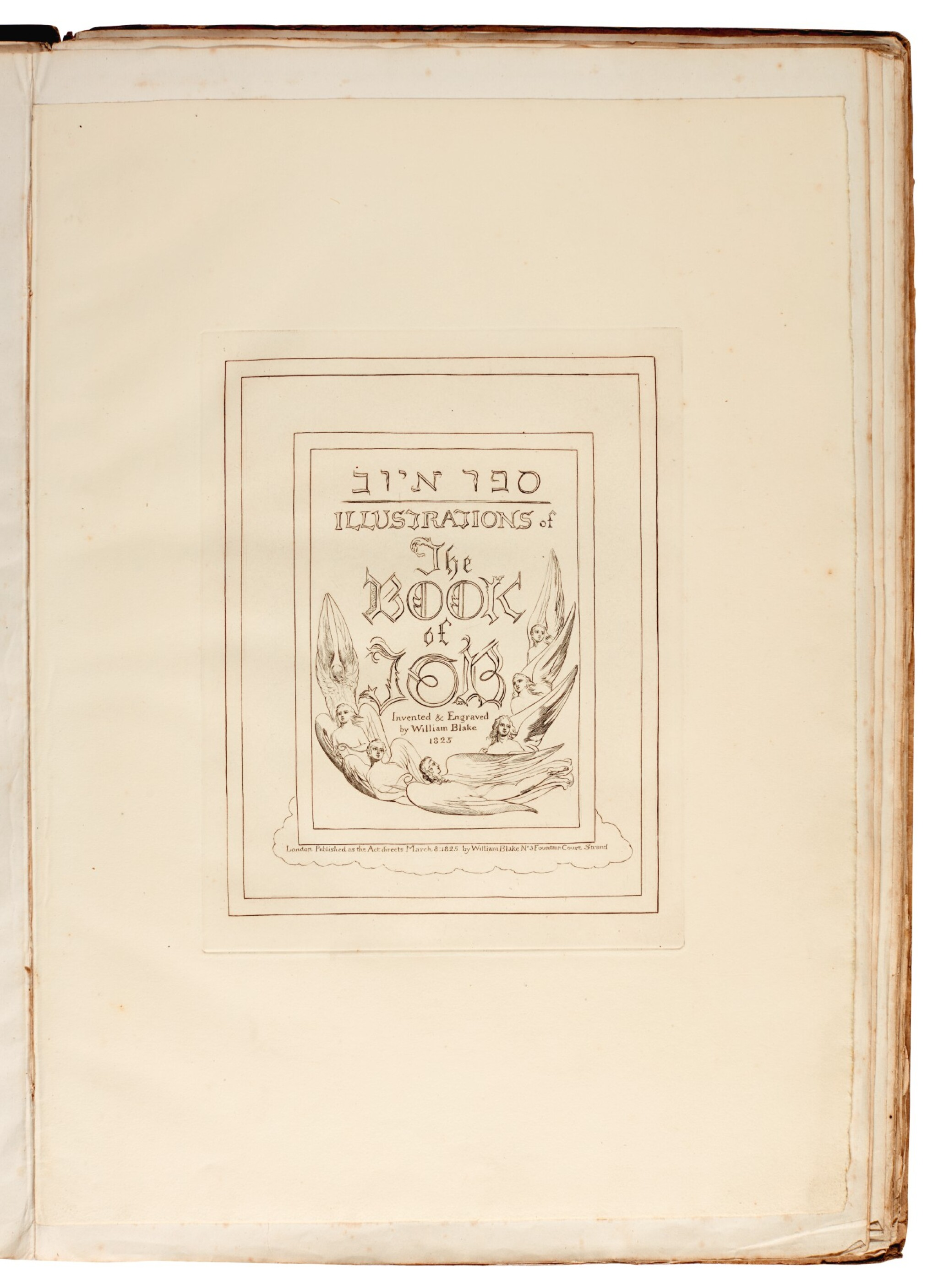 View full screen - View 1 of Lot 91. BLAKE | Illustrations of the Book of Job, 1825 [but 1826].