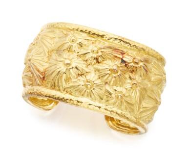 GOLD CUFF-BRACELET, DAVID WEBB