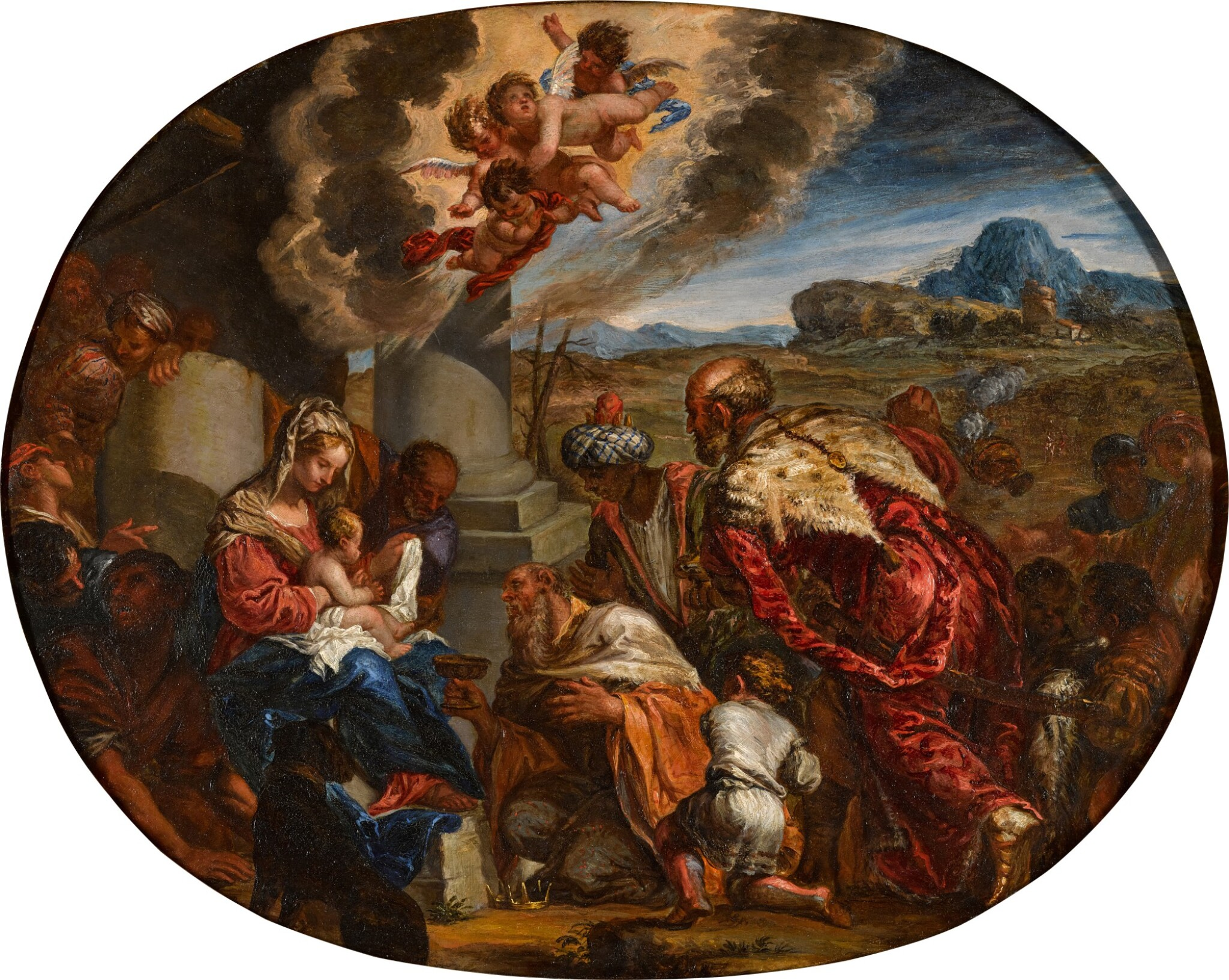 View full screen - View 1 of Lot 43. GIACOMO COTTA  |  THE ADORATION OF THE MAGI.