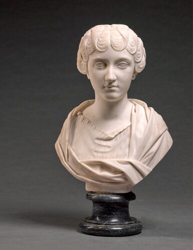 FRANCIS HARWOOD (1726/1727-1783), ITALIAN, FLORENCE, DATED 1764 | BUST OF FAUSTINA THE YOUNGER