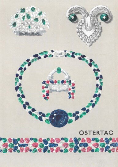 View 5. Thumbnail of Lot 33. OSTERTAG | BROCHE DIAMANTS | DIAMOND BROOCH.