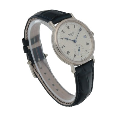View 3. Thumbnail of Lot 430. CLASSIQUE, REF 5920 WHITE GOLD WRISTWATCH WITH DATE CIRCA 2010.