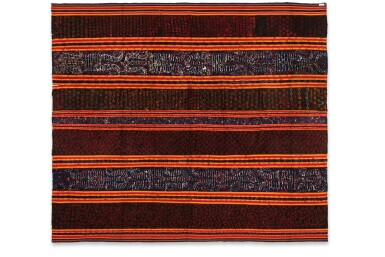 View 4. Thumbnail of Lot 20. Vêtement de femme tapis, Lampung, Sumatra, Indonésie, début du 20e siècle   Woman's wrapper tapis, Lampung, Sumatra, Indonesia, early 20th century.