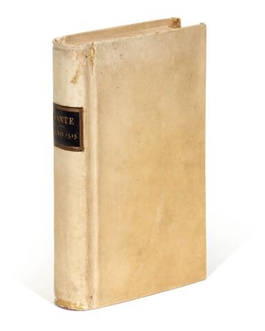 View 4. Thumbnail of Lot 100. Dante, Dante col sito e forma dell'Inferno, Venice, Aldus, 1515, old vellum.