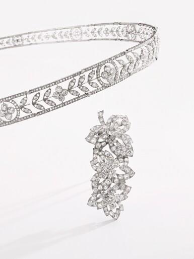 View 5. Thumbnail of Lot 179. BOUCHERON   DELICATE DIAMOND BANDEAU, CIRCA 1910 [Boucheron 鑽石束髮帶,約1910年].