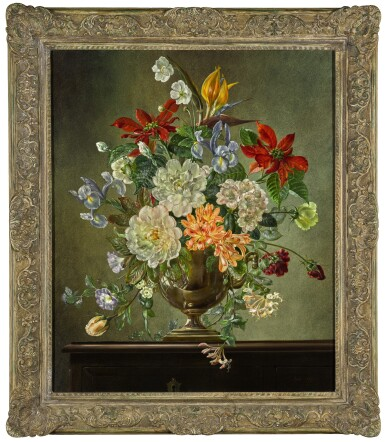 View 2. Thumbnail of Lot 113.  Still Life with Mixed Flowers.