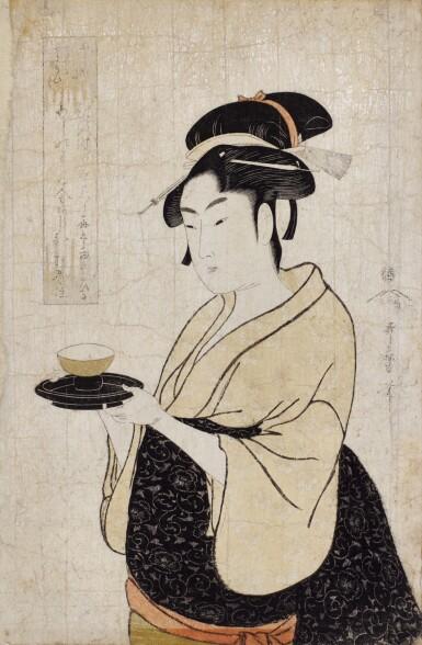 KITAGAWA UTAMARO I, (1750S–1806), EDO PERIOD, 18TH CENTURY | O-KITA OF THE NANIWA-YA TEAHOUSE (NANIWA-YA O-KITA)