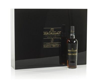 View 10. Thumbnail of Lot 7. The Macallan Mario Testino Masters Of Photography, Six Pillars, Full Collection (4 bts 70cl & 24 bts 5cl).