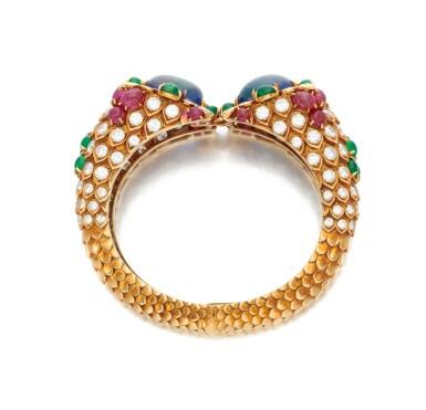 View 4. Thumbnail of Lot 77. Sapphire, emerald, ruby and diamond bracelet (Bracciale con zaffiri, smeraldi, rubini e diamanti).