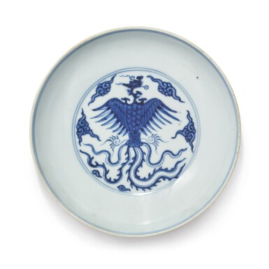 View 1. Thumbnail of Lot 1137. A BLUE AND WHITE 'DRAGON AND PHOENIX' DISH, QING DYNASTY, 18TH CENTURY.
