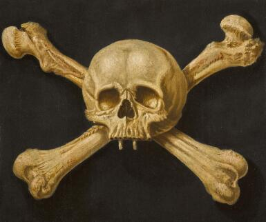 NEAPOLITAN SCHOOL, 17TH CENTURY | A memento moriwith skull and crossbones