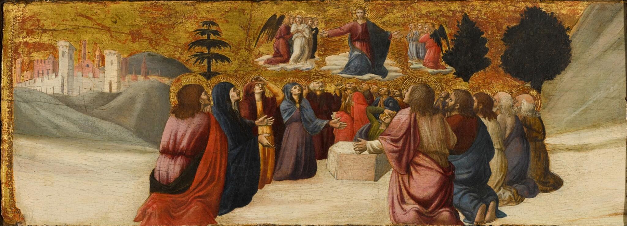 View full screen - View 1 of Lot 42. GIOVANNI ANGELO D'ANTONIO DA CAMERINO  |  THE ASCENSION OF CHRIST.