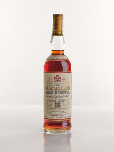 View 1. Thumbnail of Lot 4. THE MACALLAN GRAN RESERVA 18 YEARS OLD 1979.