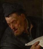 JACOB TOORENVLIET   Portrait of a man singing, bust-length