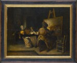 LEIDEN SCHOOL, 17TH CENTURY | A STILL-LIFE PAINTER IN HIS WORKSHOP