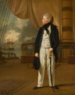 Portrait of Prince William, later King William IV of Great Britain (1765–1837), when a midshipman, in naval uniform standing on the deck of HMS Prince George | 《身穿海軍服、站在威爾斯親王號戰艦上、時為見習船員的威廉王子肖像,後為英王威廉四世(1765–1837年)》