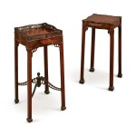 TWO GEORGE III MAHOGANY URN STANDS, THIRD QUARTER 18TH CENTURY