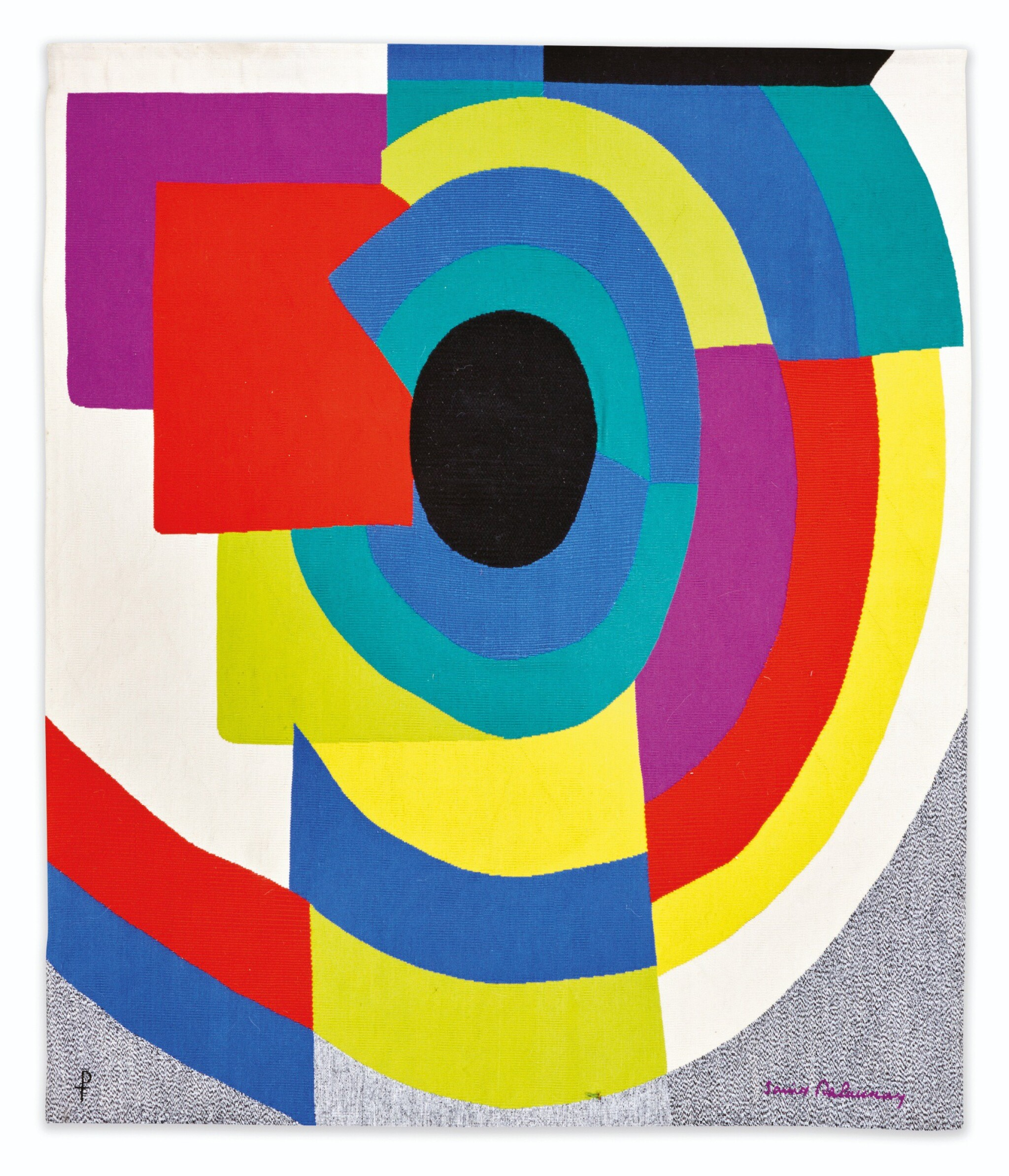 View full screen - View 1 of Lot 114. AFTER SONIA DELAUNAY | SYNCOPÉ TAPESTRY  [TAPISSERIE SYNCOPÉ].