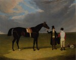 Mr. Wagstaff's The Saddler with Jockey and Trainer at Doncaster