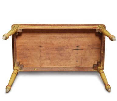 View 8. Thumbnail of Lot 318. Fine Classical Polychrome Paint-Decorated Pine Dressing Table, Maine, circa 1825-1840.