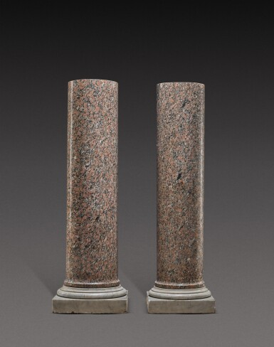 View 1. Thumbnail of Lot 152. Italian, circa 1800 | Pair of Columns.