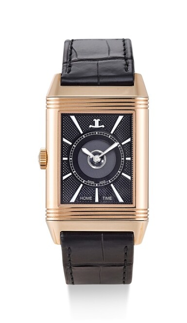 View 2. Thumbnail of Lot 504. JAEGER-LECOULTRE | REVERSO, REFERENCE 215.2.S9 A PINK GOLD DUAL TIME ZONE REVERSIBLE WRISTWATCH, CIRCA 2017.