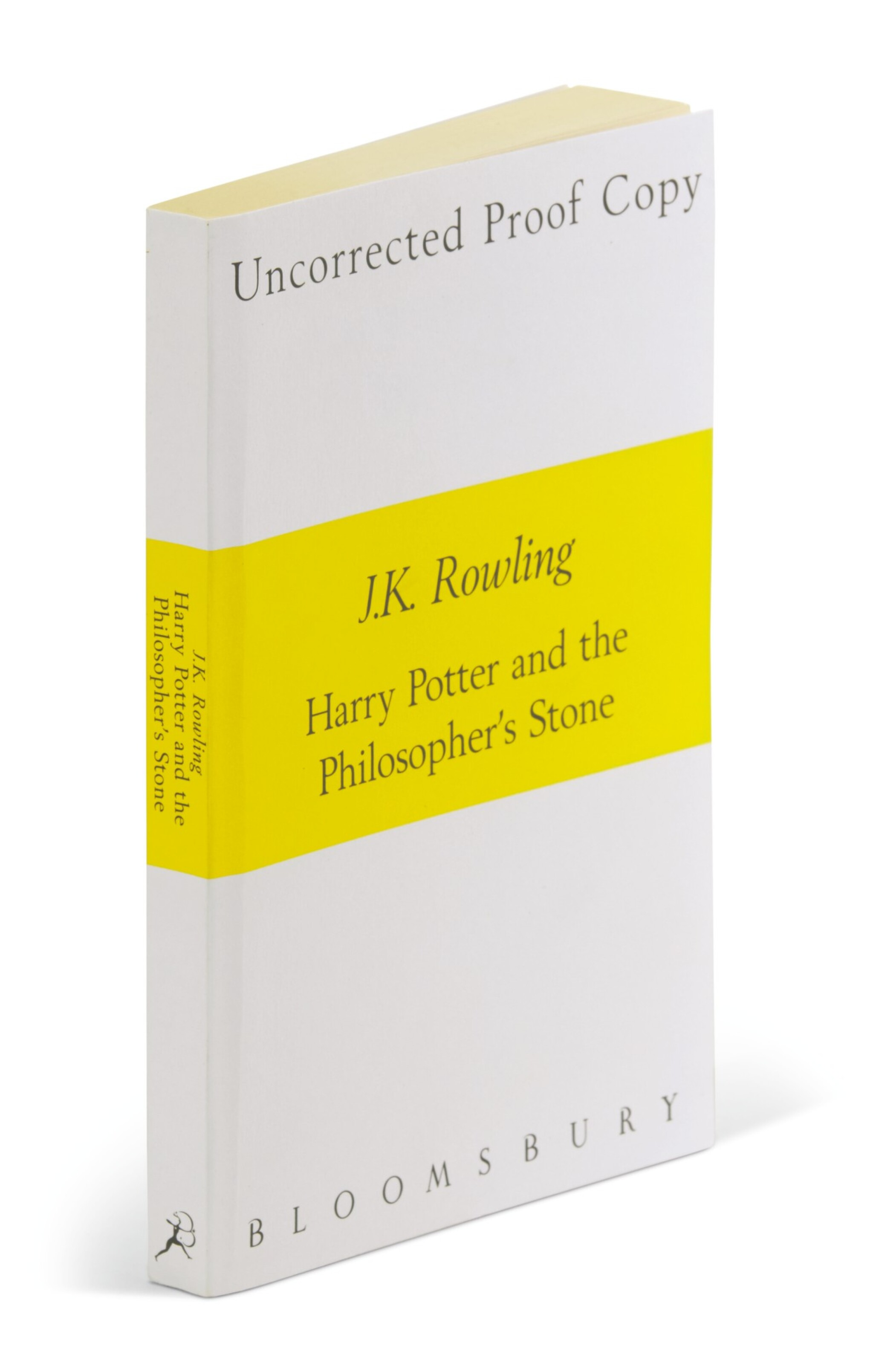 View full screen - View 1 of Lot 274. Rowling, Harry Potter and the Philosopher's Stone, 1997, uncorrected proof copy.