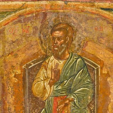View 2. Thumbnail of Lot 276. Apostle Matthew, Greek, 17th Century.