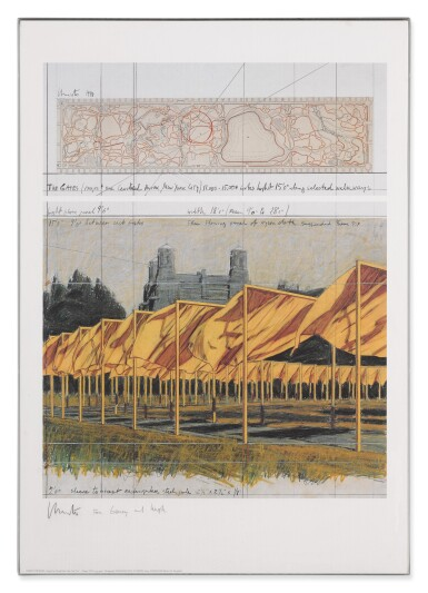 View 5. Thumbnail of Lot 34. The Gates, Project for Central Park, New York City: 5 Prints.