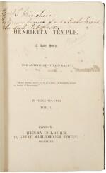 DISRAELI, BENJAMIN | Henrietta Temple, A Love Story. London: Henry Colburn, 1837