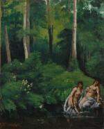 Baigneuses dans la forêt