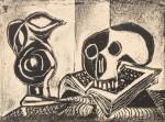PABLO PICASSO | LE PICHET NOIR ET LA TÊTE DE MORT (B. 395; MOURLOT 35)