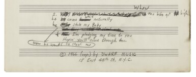 """View 9. Thumbnail of Lot 139. [DYLAN, BOB] 