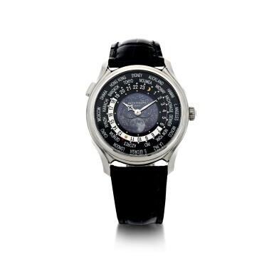 View 2. Thumbnail of Lot 61. REFERENCE 5575G-001 A LIMITED EDITION WHITE GOLD WORLDTIME WRISTWATCH WITH MOON PHASES, MADE TO COMMEMORATE THE 175TH ANNIVERSARY OF PATEK PHILIPPE, CIRCA 2015.