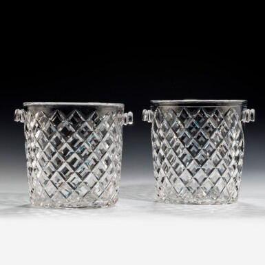 View 4. Thumbnail of Lot 99. A NEAR PAIR OF GLASS CHAMPAGNE BUCKETS, 20TH CENTURY.