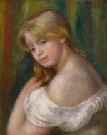 Buste de jeune femme à l'épaule nue (Jeune fille à sa toilette)