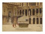 ANTONIETTA BRANDEIS | CORTILE DEL PALAZZO DUCALE WITH THE ARCO FOSCARI AND SCALA DEI GIGANTI, VENICE
