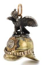 A FABERGÉ VARICOLOURED GOLD AND SILVER LOCKET, WORKMASTER ERIK KOLLIN, ST PETERSBURG, CIRCA 1890