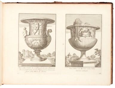 View 1. Thumbnail of Lot 48. Aquila, Raccolta di vasi diversi, Rome, 1713, contemporary mottled calf.